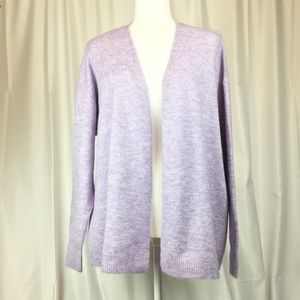 Chelsea & Theodore Long Sleeve Open Front Cardigan